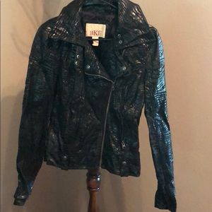 BKE Black Textured Moto Jacket